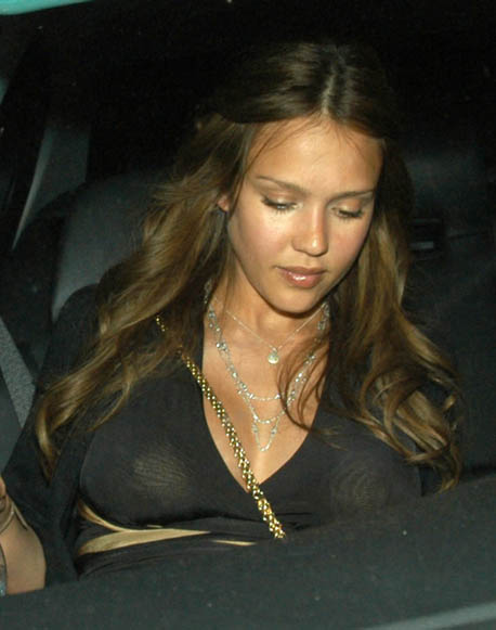 Jessica alba see through top