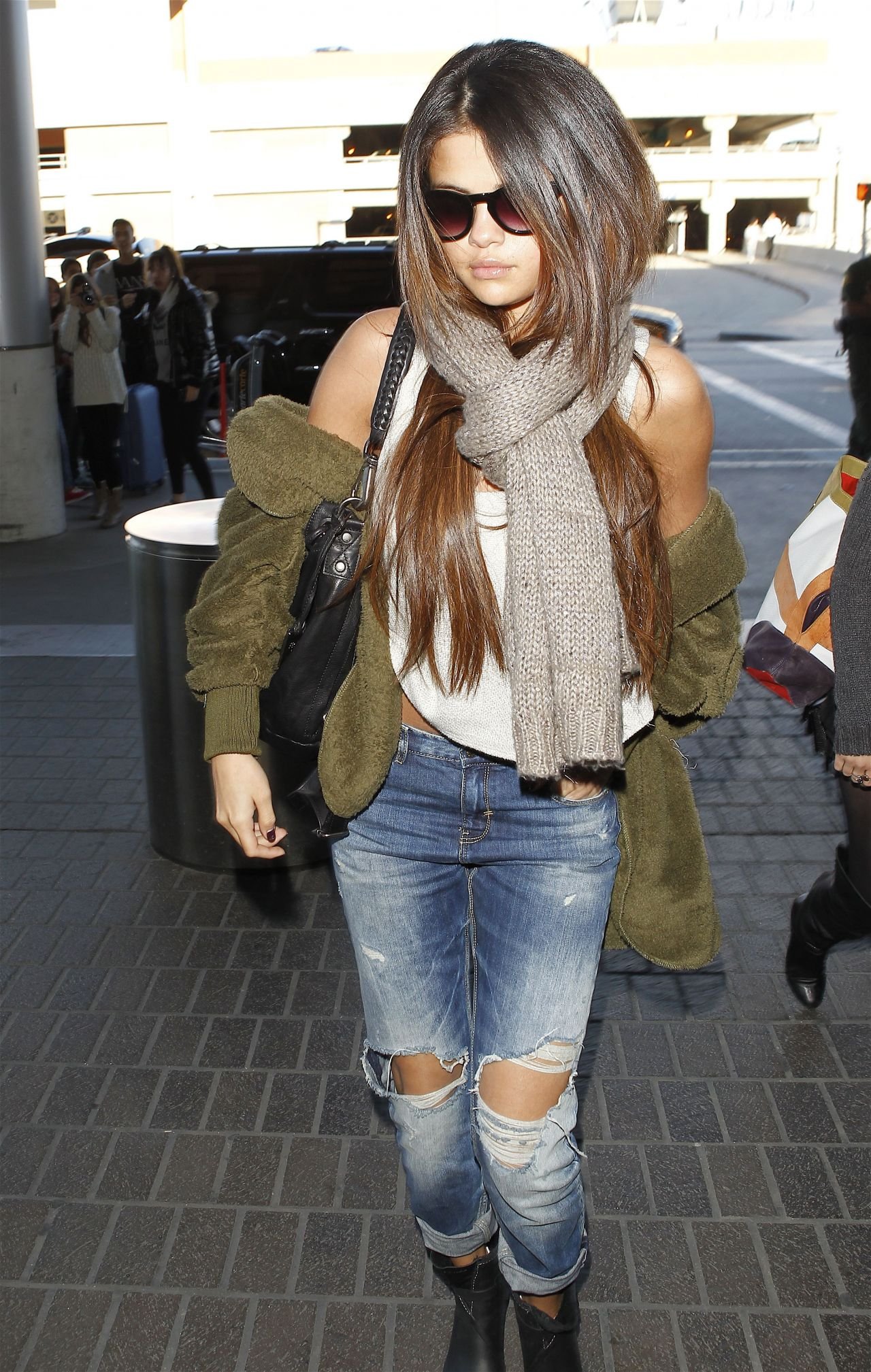 Selena Gomez Street Style At Lax Airport February 2014